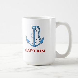 Ancla-Capitán del barco Taza Clásica