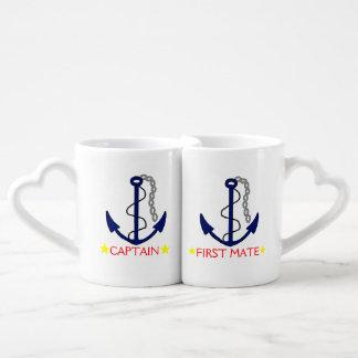 Ancla-Capitán y primer compañero Taza Para Enamorados