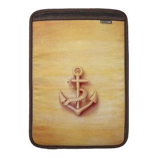 Ancla con clase náutica del vintage fundas para macbook air