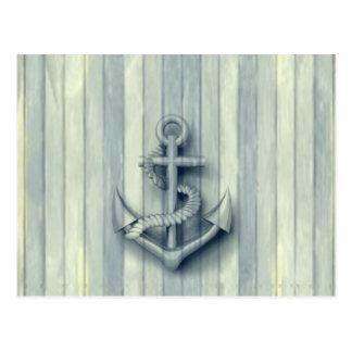 Ancla con clase náutica del vintage tarjetas postales