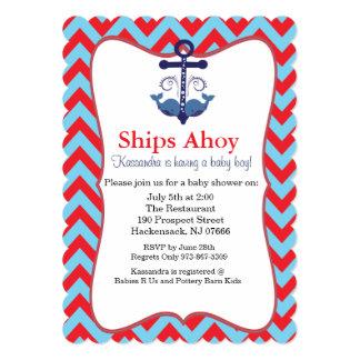 Ancla con la invitación náutica de la fiesta de