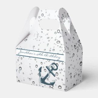 Ancla de hundimiento náutica personalizada cajas para regalos de boda