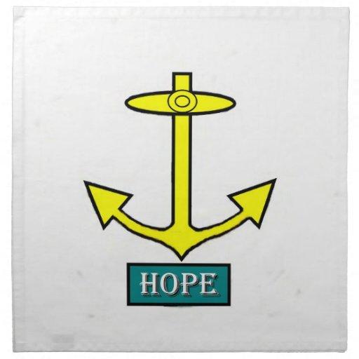 Ancla de la esperanza de Rhode Island Servilletas Imprimidas
