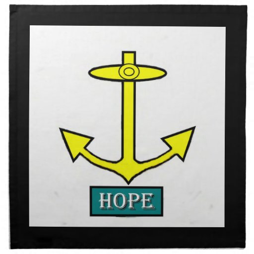 Ancla de la esperanza de Rhode Island Servilleta De Papel