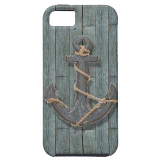 ancla de la nave de los azules marinos de la playa iPhone 5 cárcasas