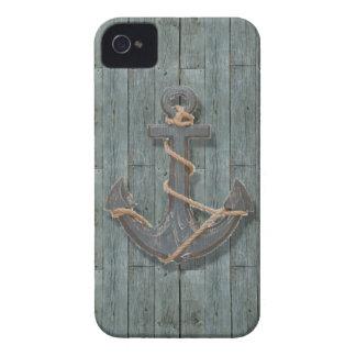 ancla de la nave de los azules marinos de la playa Case-Mate iPhone 4 protectores