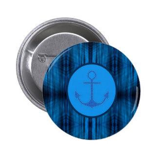 ancla de la nave de los azules marinos de la playa pin