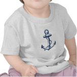 Ancla de los azules marinos camiseta