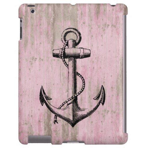 Ancla de madera rosada