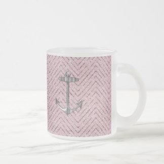 Ancla de plata rosada femenina del modelo de Chevr Taza De Café