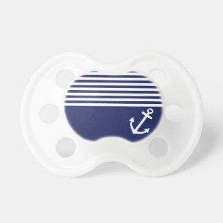 Ancla del amor de los azules marinos náutica chupetes para bebés