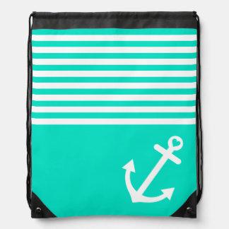 Ancla del amor del trullo náutica mochila