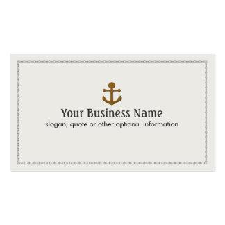 Ancla del barco de la nave náutica tarjetas de visita