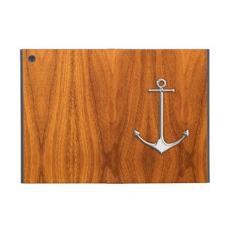 Ancla del cromo en forma de vida náutica de la cha iPad mini cárcasas