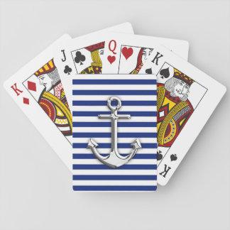 Ancla del cromo en la impresión de las rayas de la cartas de juego