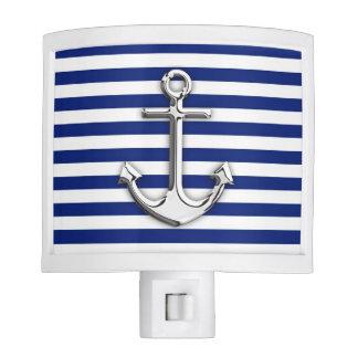 Ancla del cromo en rayas de la marina de guerra