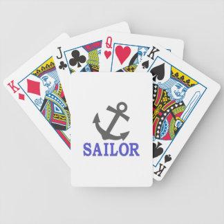 Ancla del marinero barajas de cartas