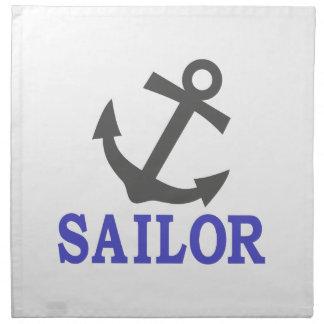 Ancla del marinero servilleta de papel