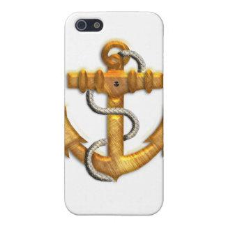 Ancla del oro iPhone 5 carcasa