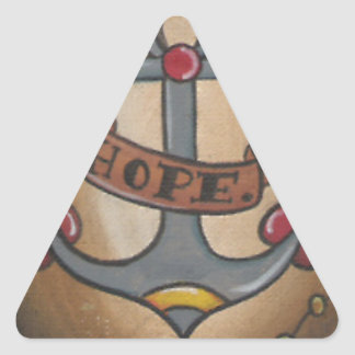 Ancla del tatuaje pegatina triangular