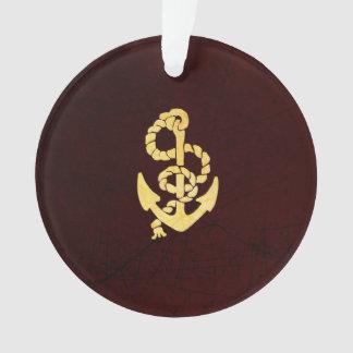Ancla del vintage en mirada náutica de cuero