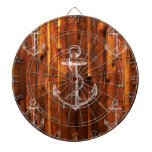 Ancla del vintage en tableros de madera oscuros