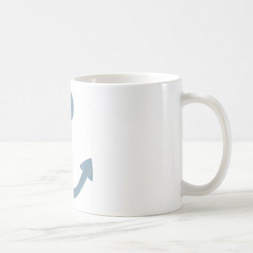 Ancla del vintage taza básica blanca