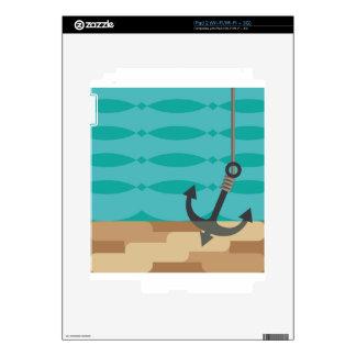 Ancla estilizada debajo del agua calcomanía para el iPad 2