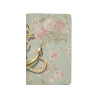 ancla femenina floral inglesa linda náutica cuadernos grapados