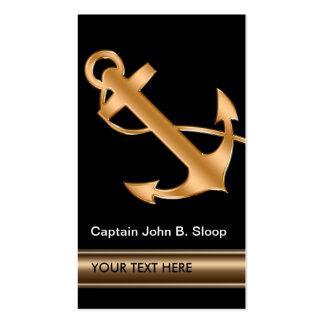 Ancla marina náutica con clase del barco tarjetas de visita