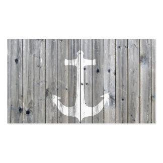 Ancla náutica blanca del vintage del inconformista tarjetas de visita