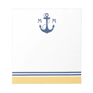 Ancla náutica bloc de notas