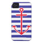 Ancla náutica clásica iPhone 4 fundas