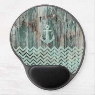 Ancla náutica de Bokeh de la aguamarina en la made Alfombrillas De Ratón Con Gel