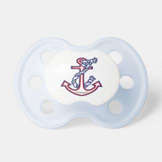 Ancla náutica de la cuerda chupete de bebé