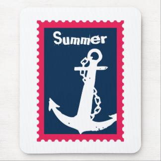 Ancla náutica de las naves del verano alfombrilla de ratón