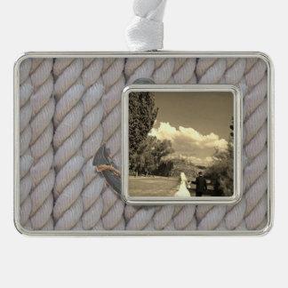 ancla náutica de madera de la cuerda de la playa adornos con foto