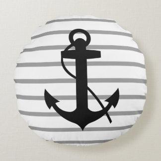 Ancla náutica del barco cojín redondo