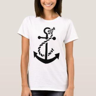 Ancla náutica del infante de marina de la marina playera