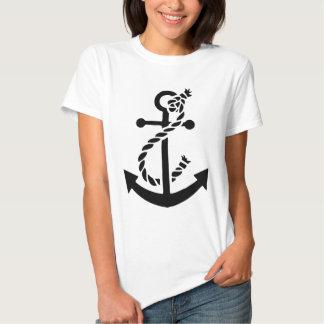 Ancla náutica del infante de marina de la marina poleras