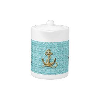 ancla náutica del marinero del damasco de la