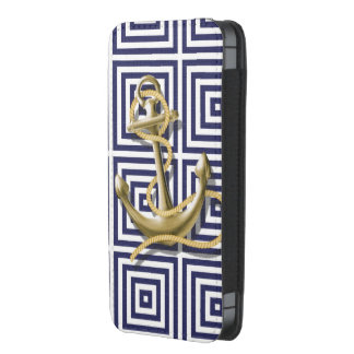 ancla náutica del modelo de muy buen gusto de la funda acolchada para iPhone