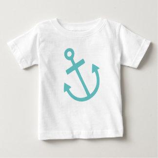 Ancla náutica del pequeño capitán playera de bebé