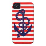 Ancla náutica del vintage Case-Mate iPhone 4 coberturas