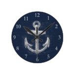 Ancla náutica del vintage relojes