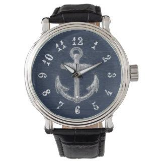 Ancla náutica del vintage relojes de mano