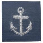 Ancla náutica del vintage servilletas imprimidas