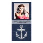 Ancla náutica del vintage tarjeta personal