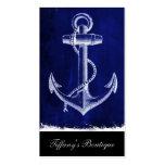 ancla náutica elegante lamentable rústica de la tarjetas de visita