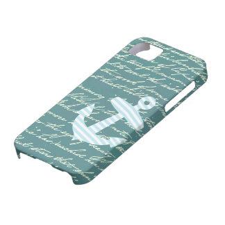 Ancla náutica en caso del iphone 5 del trullo de l iPhone 5 Case-Mate cárcasas